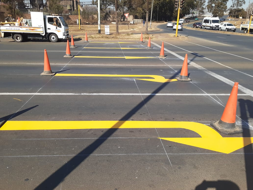 road markings South Africa